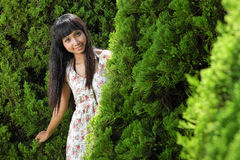 Young beautiful asian girl smiling Royalty Free Stock Image