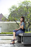 Young beautiful asian girl smiling Royalty Free Stock Photos
