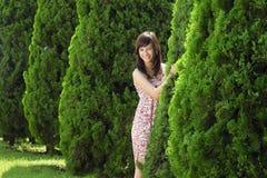 Young beautiful asian girl smiling Stock Images