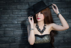 Young beautiful Asian model Stock Image