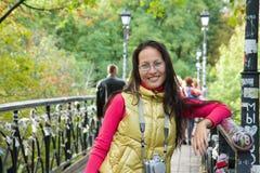 Young asian woman traveler Stock Photography