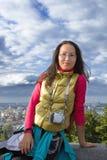 Young asian woman traveler Stock Image