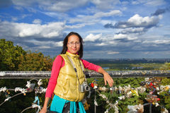 Young asian woman traveler Royalty Free Stock Photos