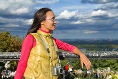 Young asian woman traveler Royalty Free Stock Photo