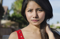 Young beautiful Asian woman Stock Images