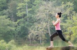 Young beautiful asian woman practicing yoga Royalty Free Stock Photography