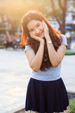 Young and beautiful asian woman with smiling Royalty Free Stock Image