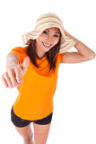 Young beautiful asian woman in summer clothes Stock Photo