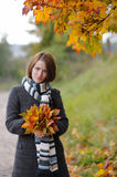 Young beautiful autumn lady Stock Images