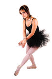 A young beautiful ballerina dancing. Royalty Free Stock Images