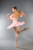 Young beautiful ballerina dancing gracefully royalty free stock photography