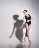 Young and beautiful ballerina with a perfect body Royalty Free Stock Photo