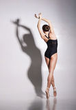 Young and beautiful ballerina with a perfect body Royalty Free Stock Image