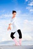 Young beautiful ballerina posing Royalty Free Stock Photos