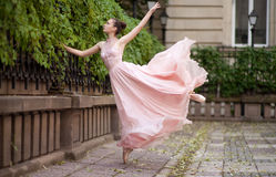 Young beautiful ballerina Stock Images