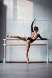 Young beautiful ballerina posing in studio Royalty Free Stock Photo