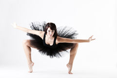 Young beautiful ballet dance holding pose stock photo
