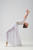 Young and beautiful ballet dancer posing isolated Royalty Free Stock Photo