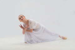 Young and beautiful ballet dancer posing isolated Stock Photo