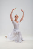 Young and beautiful ballet dancer posing isolated Royalty Free Stock Photography