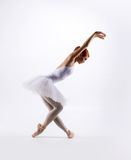 Young beautiful ballet dancer on a white background Stock Photography