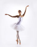 Young beautiful ballet dancer on a white background Royalty Free Stock Image