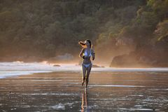 Young beautiful on a beach. Stock Photography