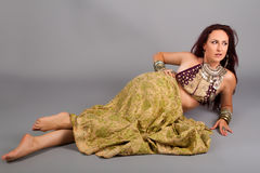 Young beautiful belly dancer Stock Image