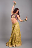 Young beautiful belly dancer Royalty Free Stock Photos