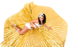 Belly dancer lying Stock Photography