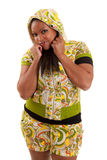 Young beautiful black woman Stock Photos