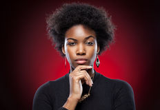 Young and beautiful black woman Royalty Free Stock Image