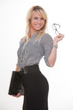 Young and beautiful blond caucasian businesswoman Royalty Free Stock Photography