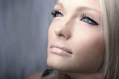 Young beautiful blond Caucasian girl Stock Photo