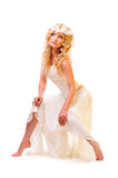 Young beautiful blond dancer Stock Photography