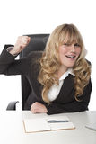 Young beautiful blond haired business woman Royalty Free Stock Photo