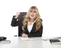 Young beautiful blond haired business woman Stock Image