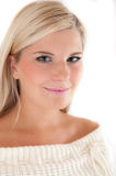 Young beautiful blond winter woman Royalty Free Stock Image