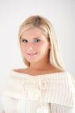 Young beautiful blond winter woman Stock Photo