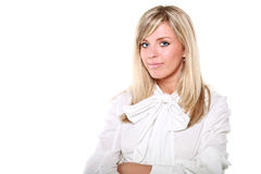 Young beautiful blonde business woman Royalty Free Stock Photo