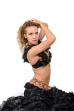 Young beautiful blonde in a dance costume Royalty Free Stock Image