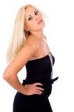 Young beautiful blonde girl posing in studio Stock Image