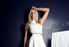 Young beautiful blonde girl posing Royalty Free Stock Images