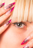 Young beautiful blonde with a nice manicure Royalty Free Stock Photo