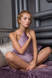 Young beautiful blonde Stock Images