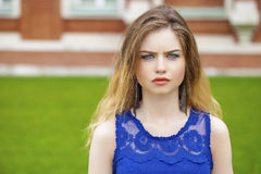 Young beautiful blonde woman Stock Photography