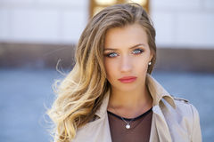 Young beautiful blonde woman Royalty Free Stock Photos