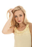 Young beautiful blonde woman emotion Stock Photos