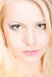 Young beautiful blonde woman with make-up Royalty Free Stock Photography