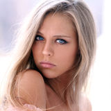 Young beautiful blonde woman Stock Photo